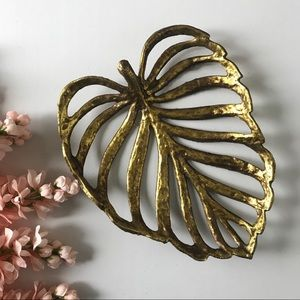 Other - Gold Leaf Accent Dish